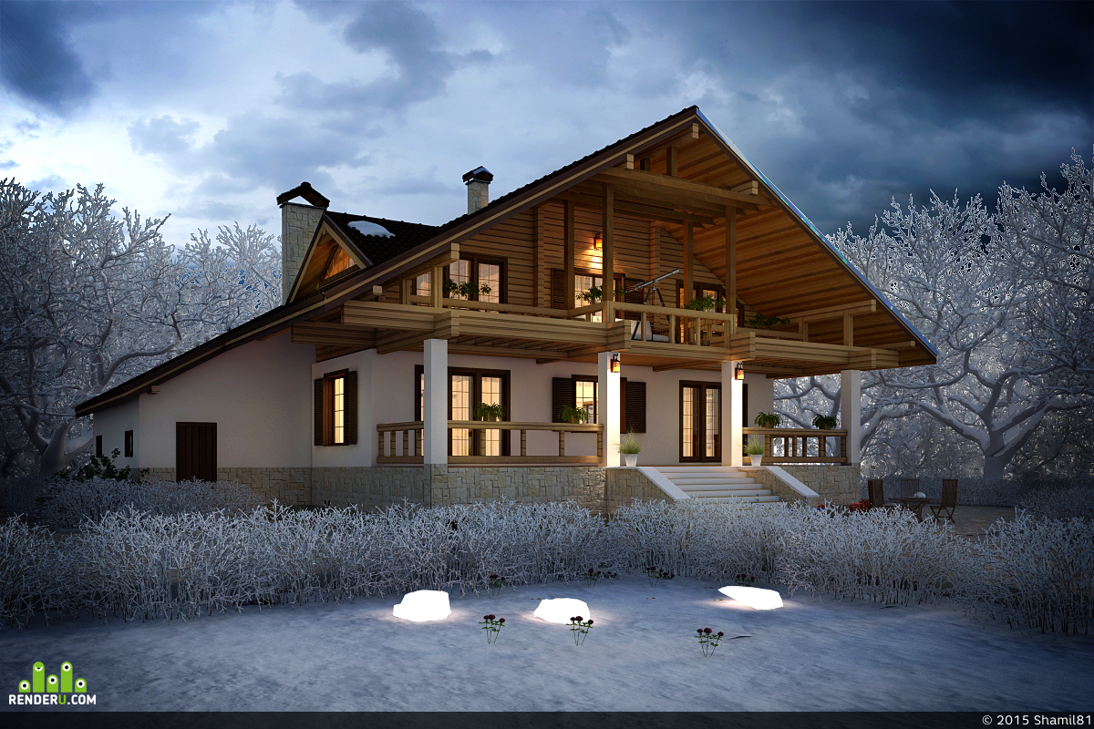 preview Загородный дом в лесу