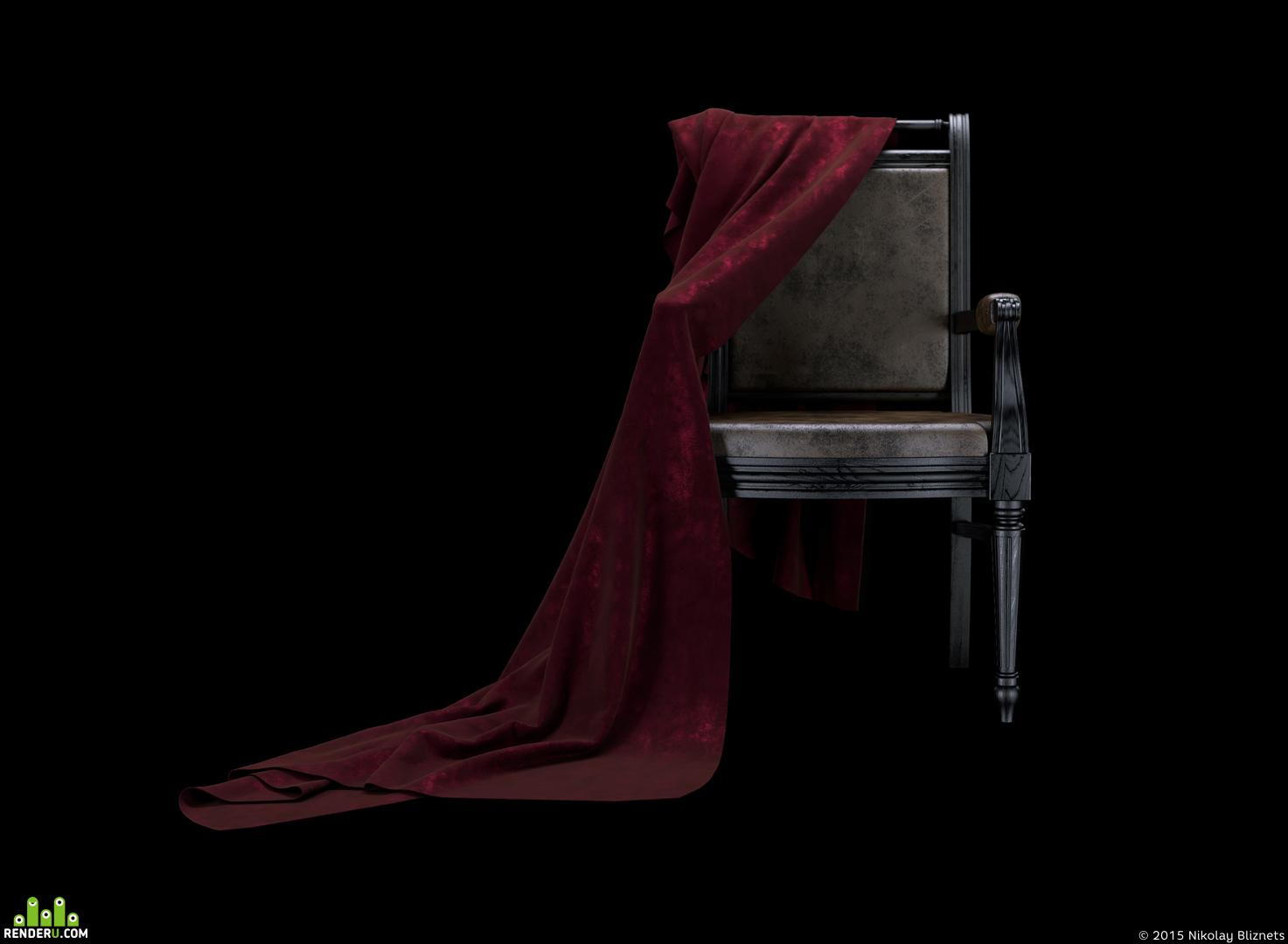 preview Кресло с тканью