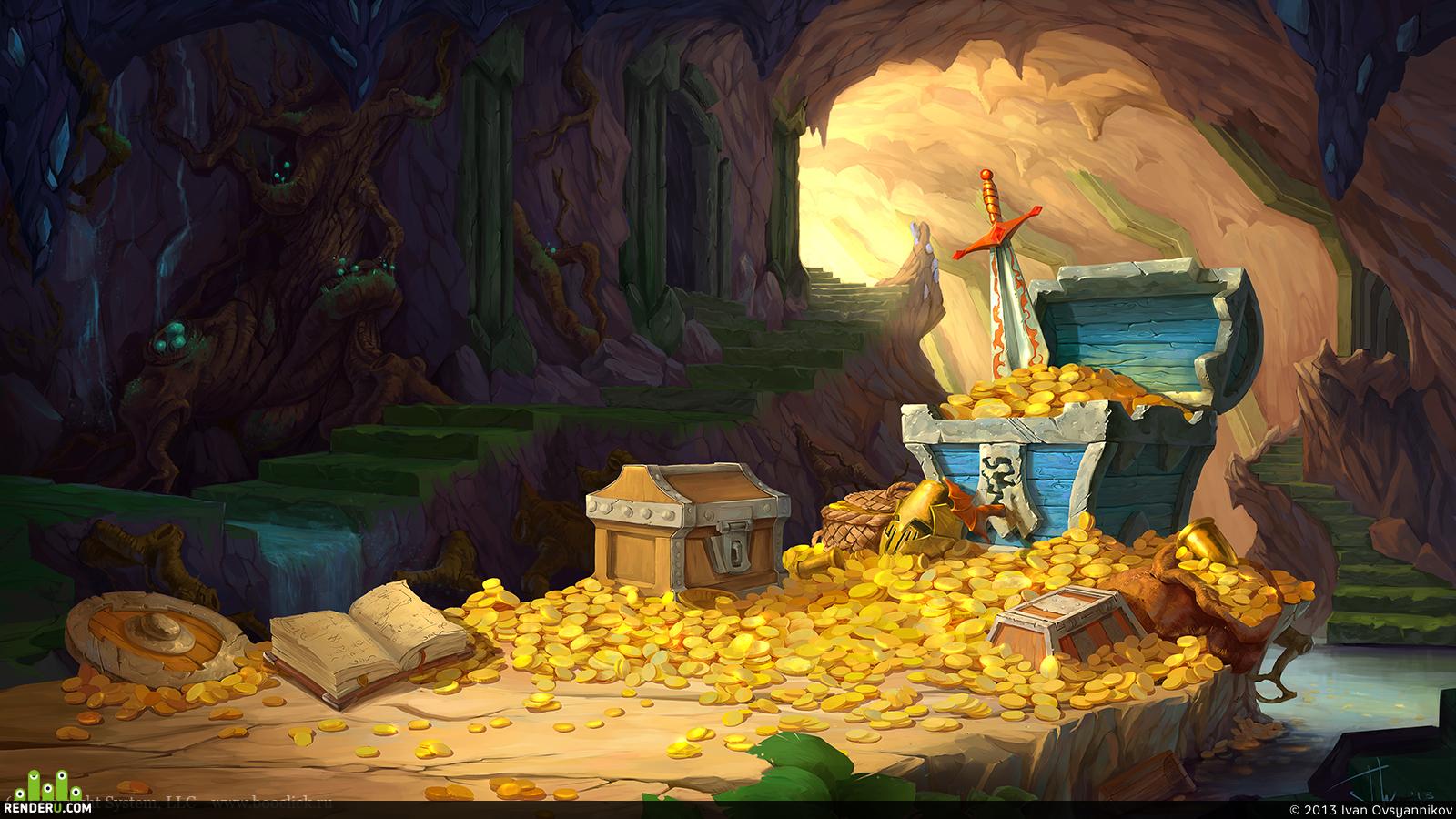 картинки пещеры с золотом драконе она стала