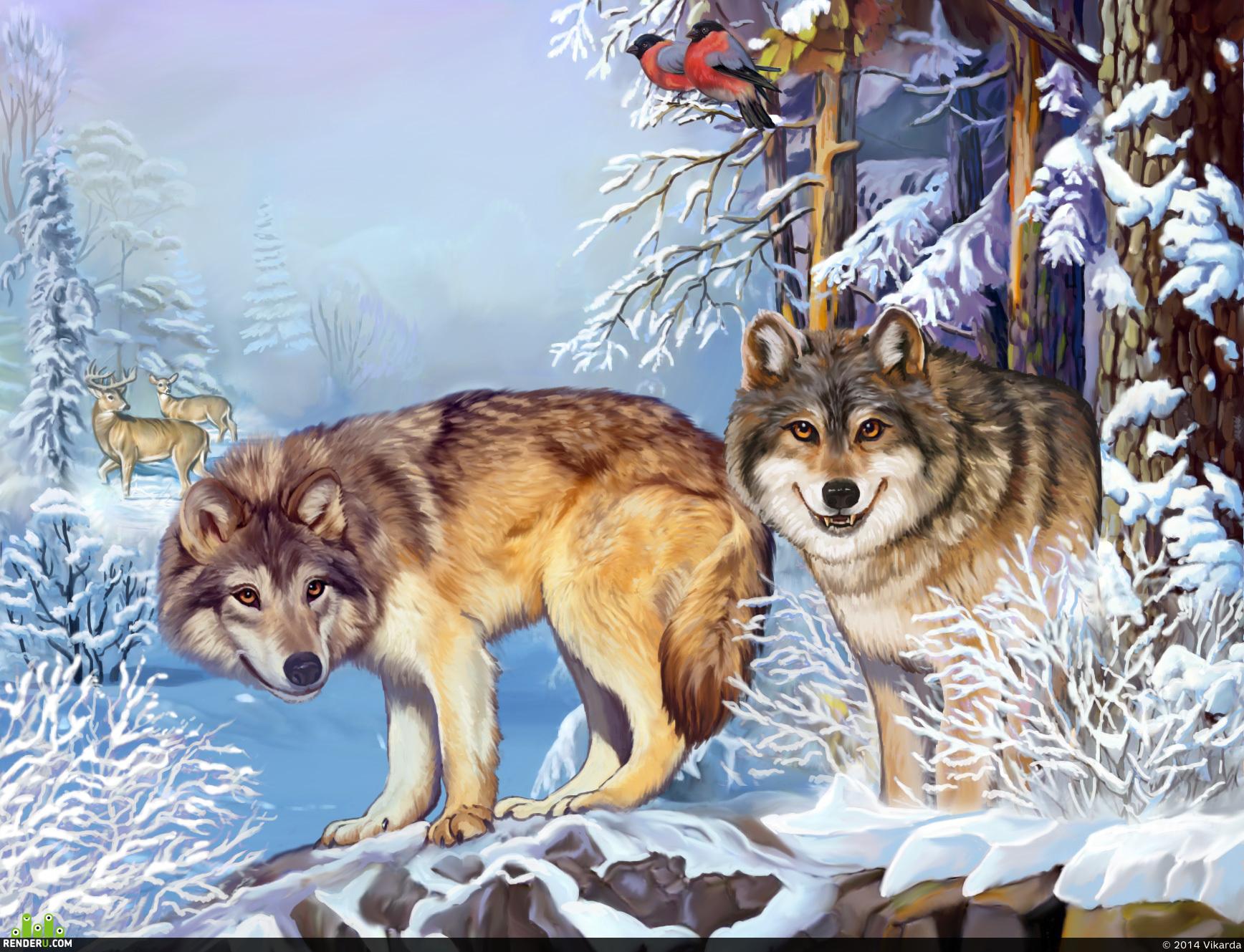 preview Волки в лесу