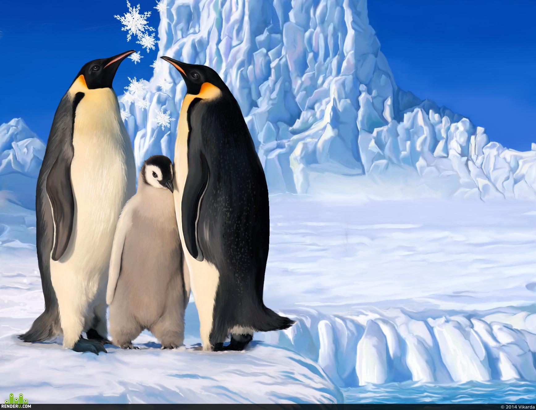 preview Семья пингвинов