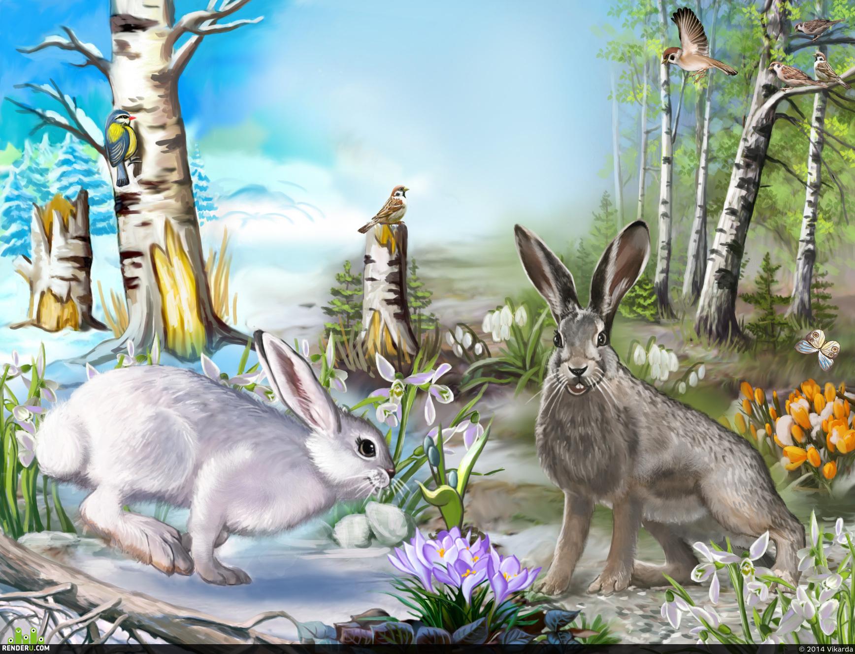 preview Как заяц меняет цвет