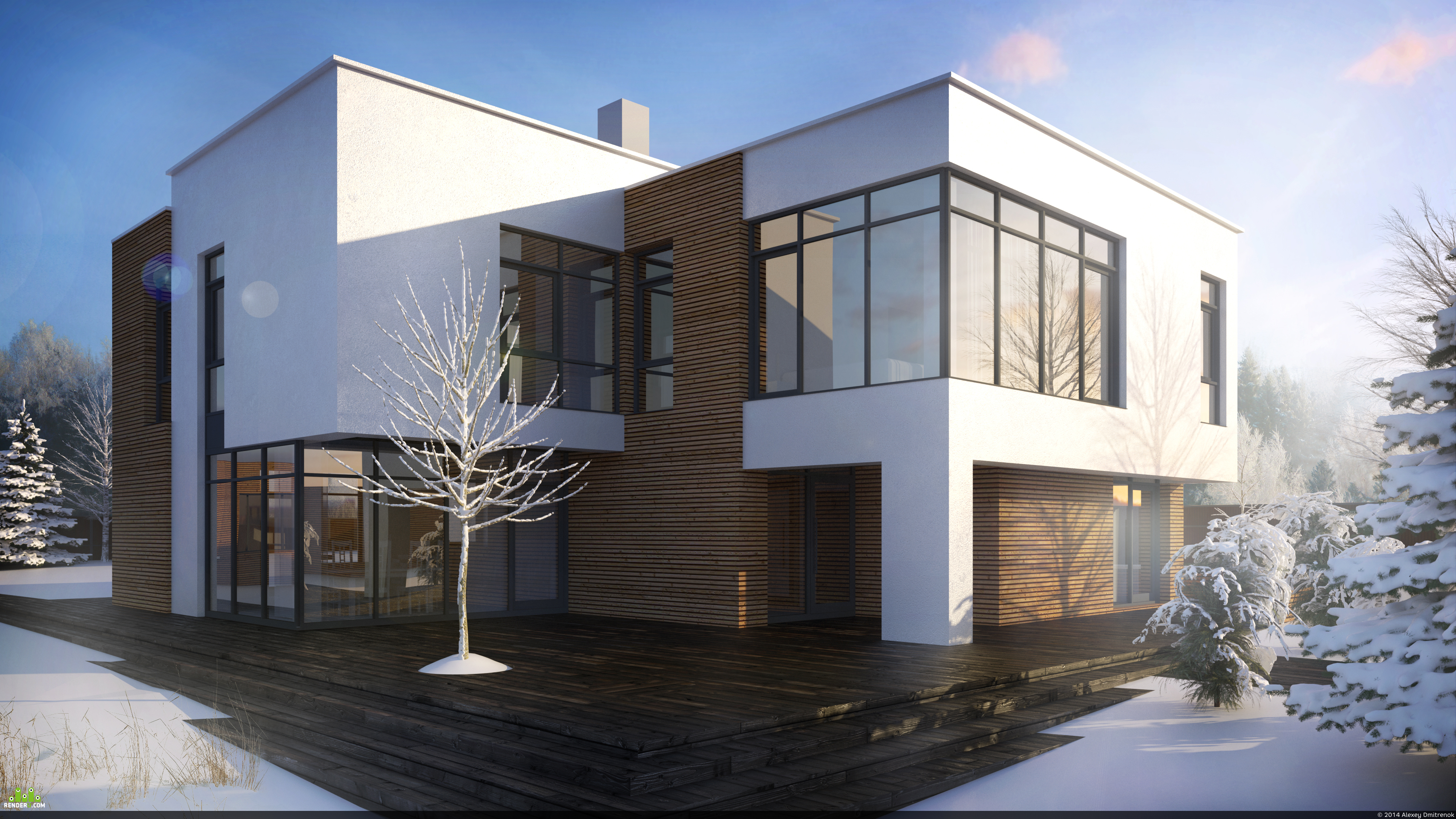 preview Индивидуальный жилой дом в современном стиле