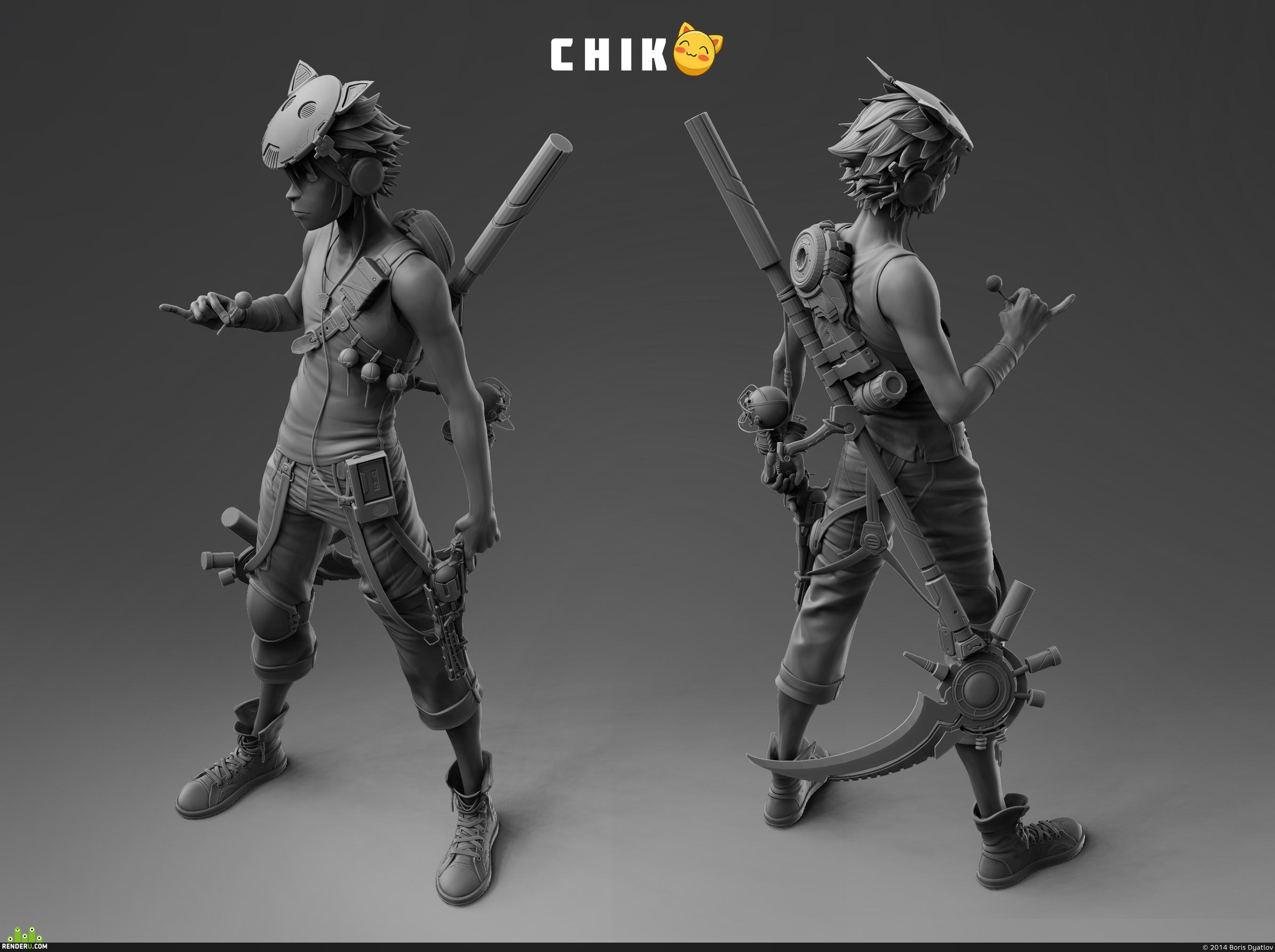 preview Chiko sculpt