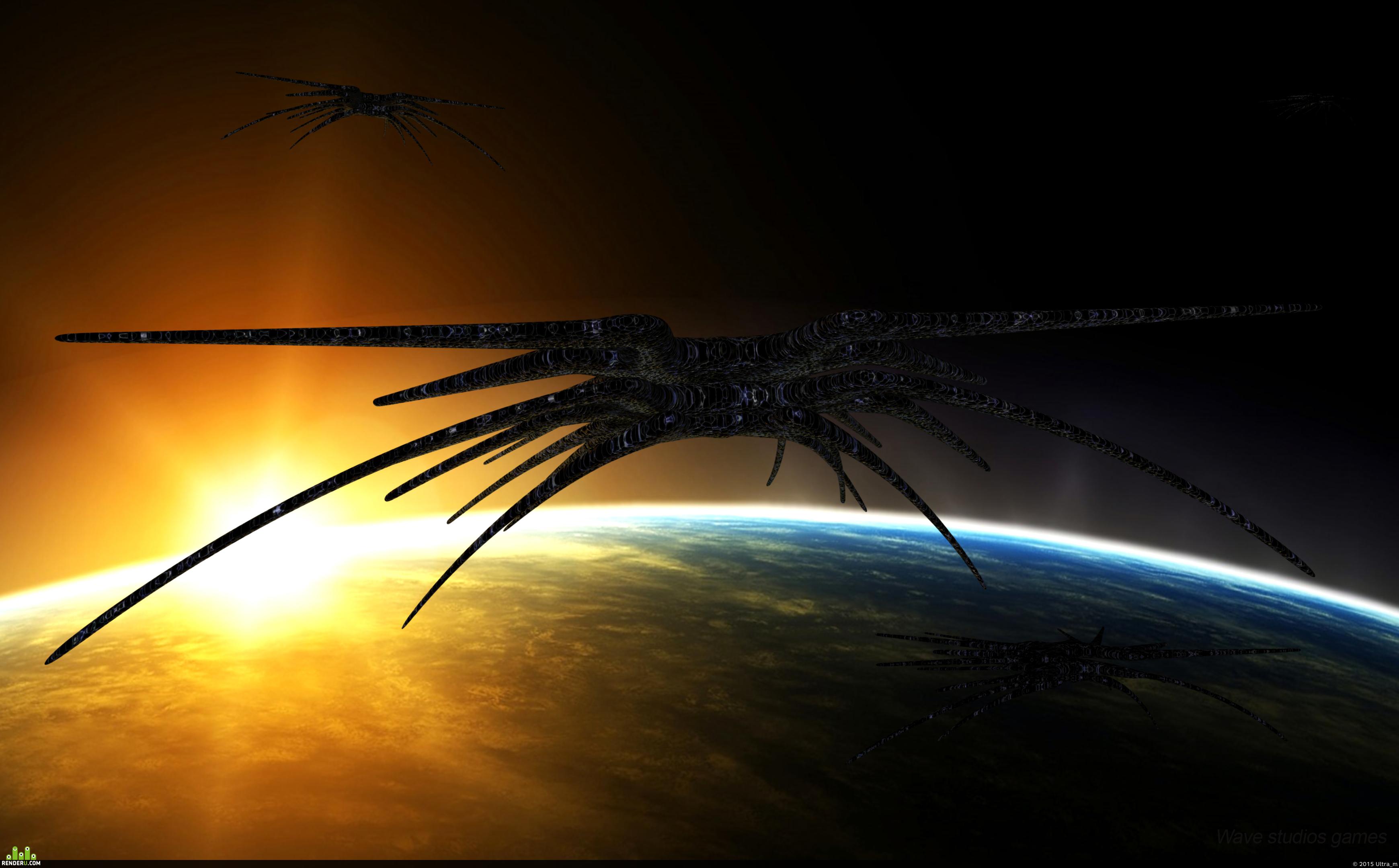 preview Babylon 5. Shadows cruiser.