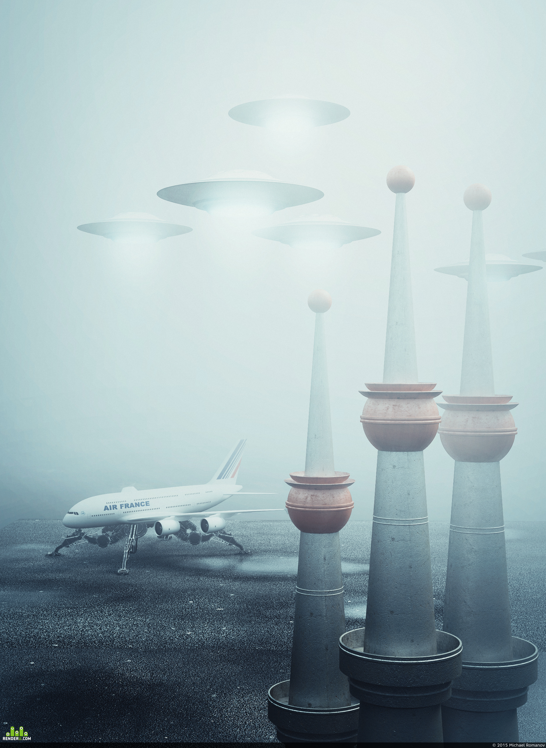 preview Airport in the fog