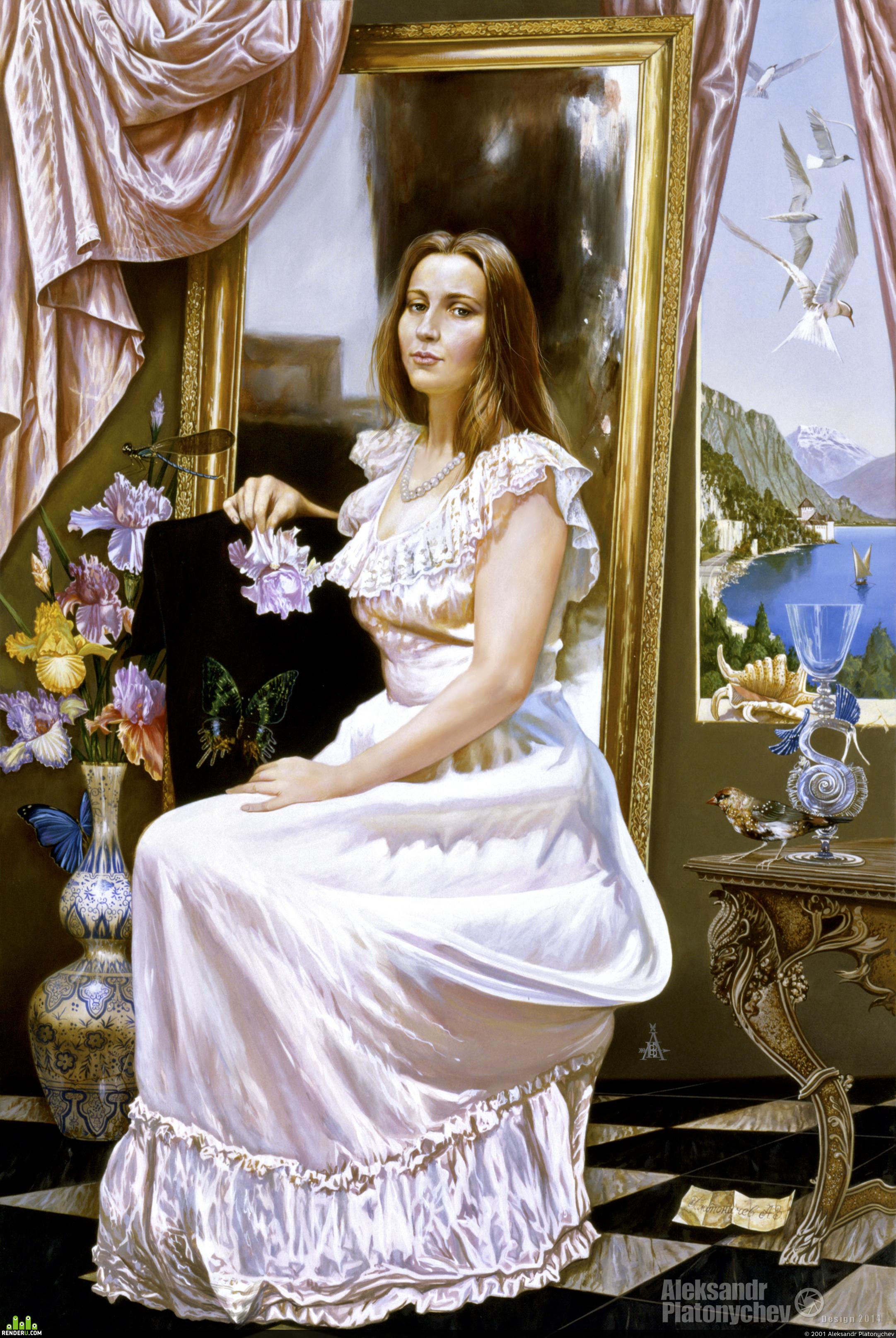 preview  Портрет Нины белом платье