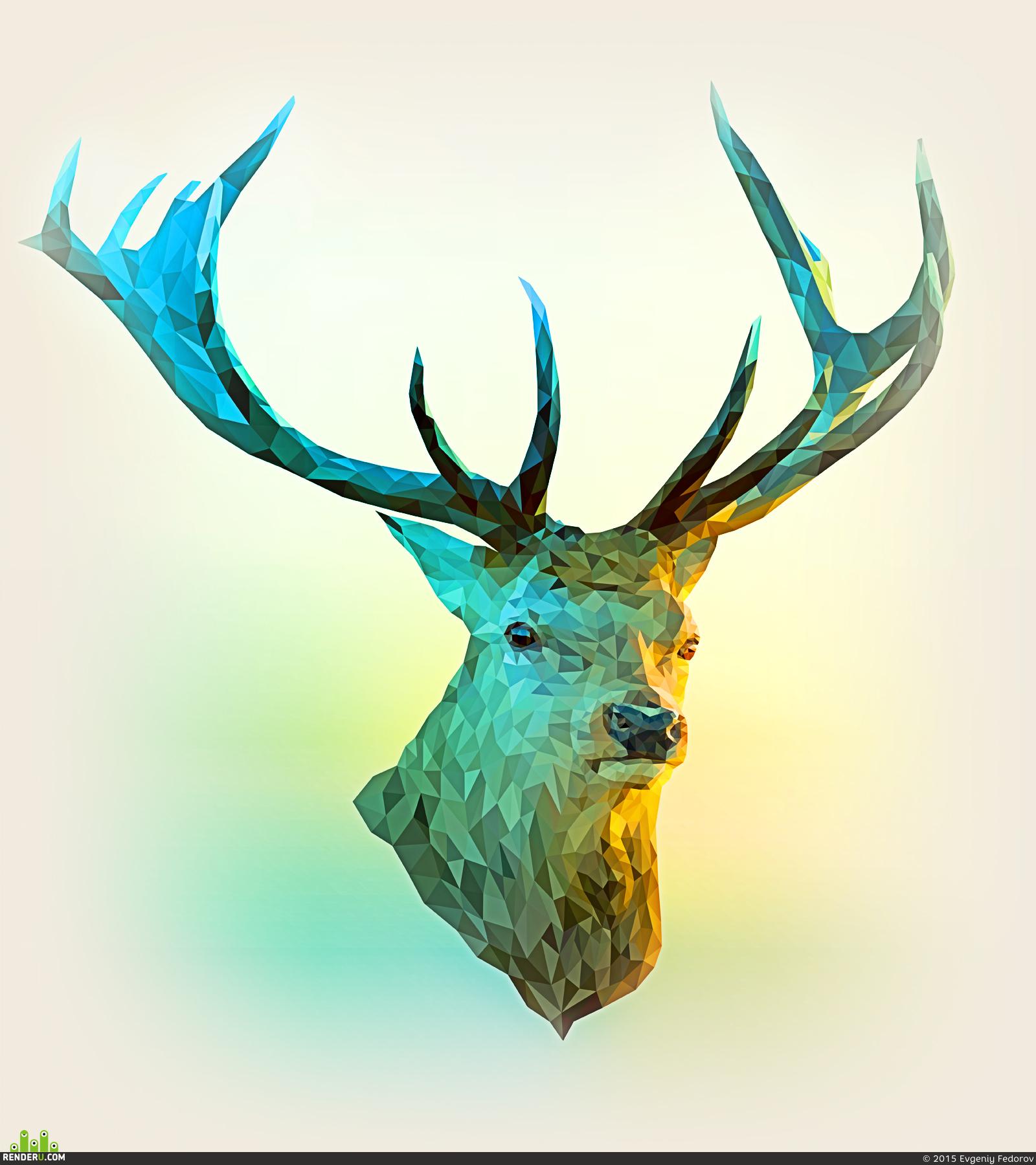 preview Лесной олень