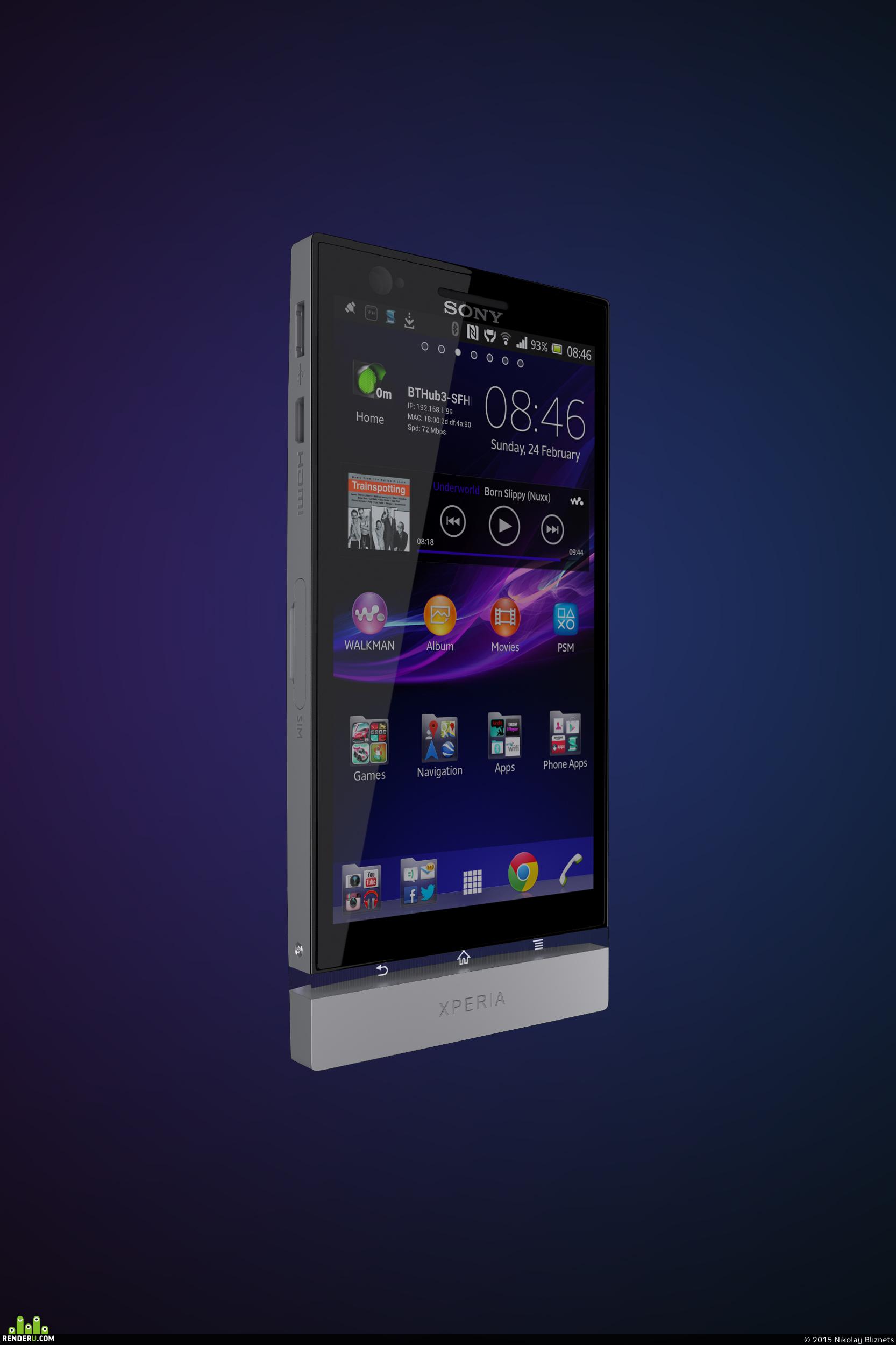 preview Мобильный телефон (SONY XPERIA P)