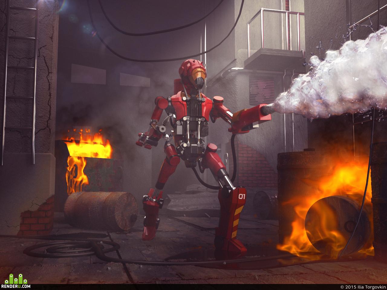 preview Робот АЦ-54 в действии