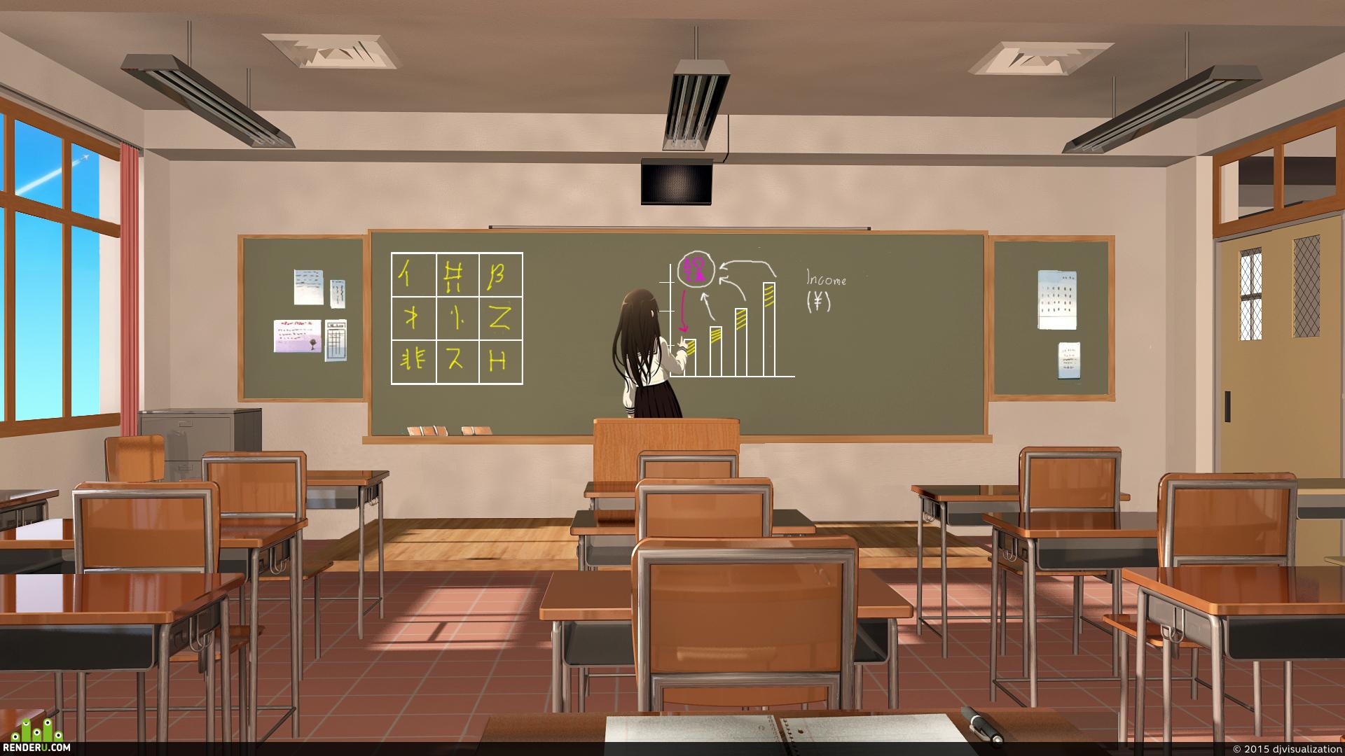 preview Японский школьный класс
