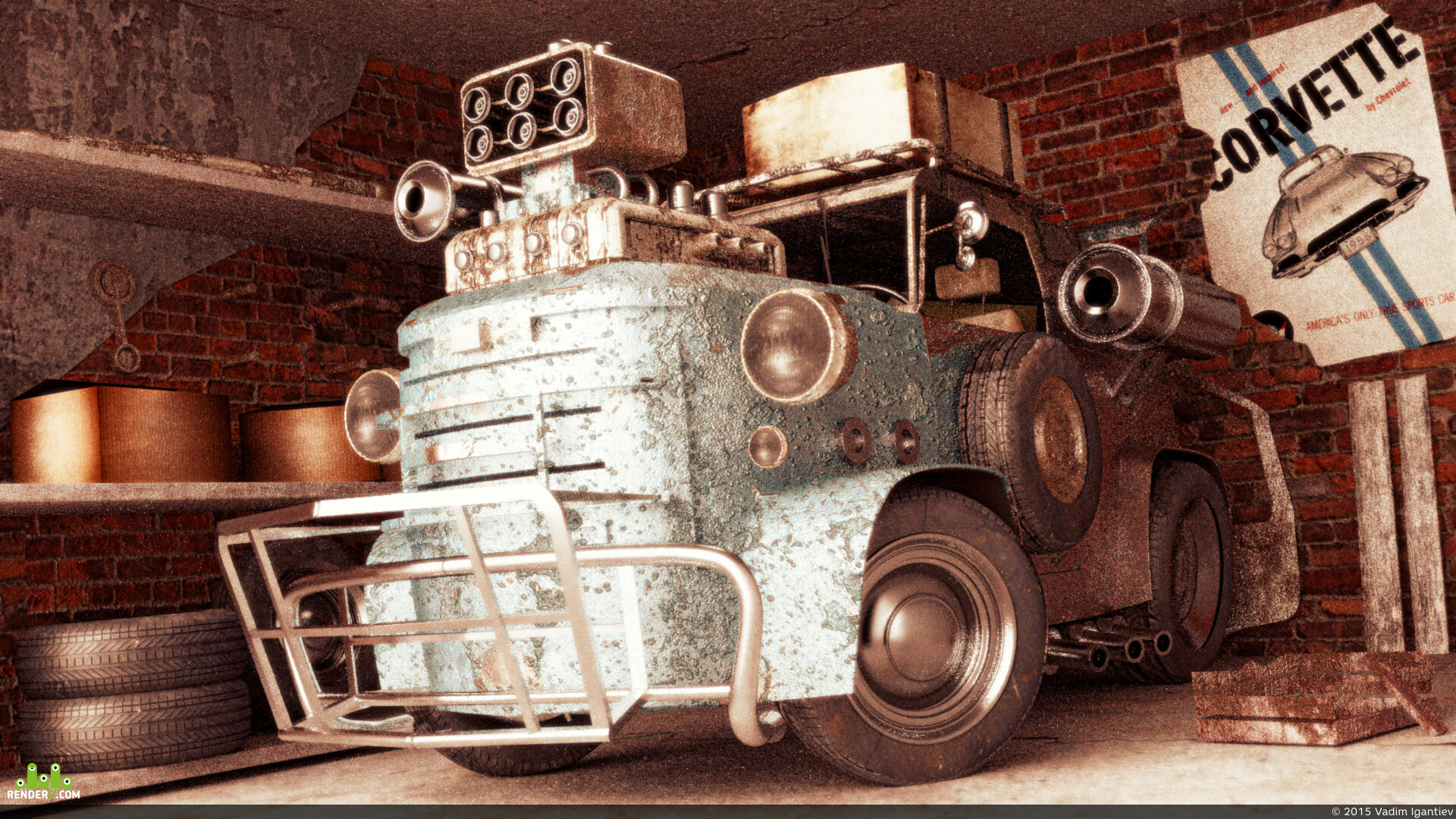 preview Мультяшный самодельный автомобиль
