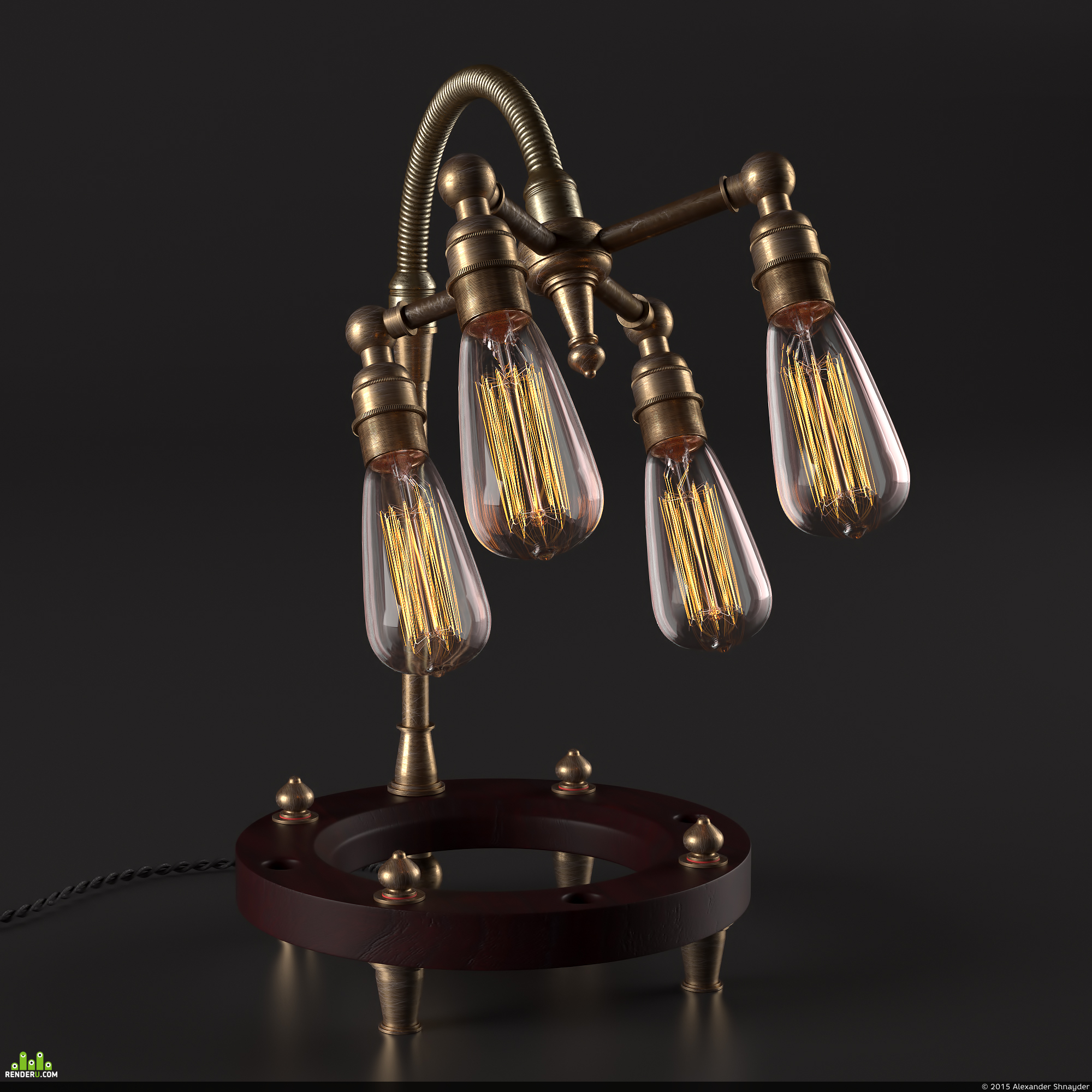 preview Multi bulb heavy table lamp