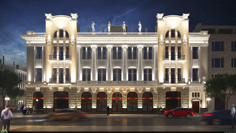preview Подсветка здания город Харьков
