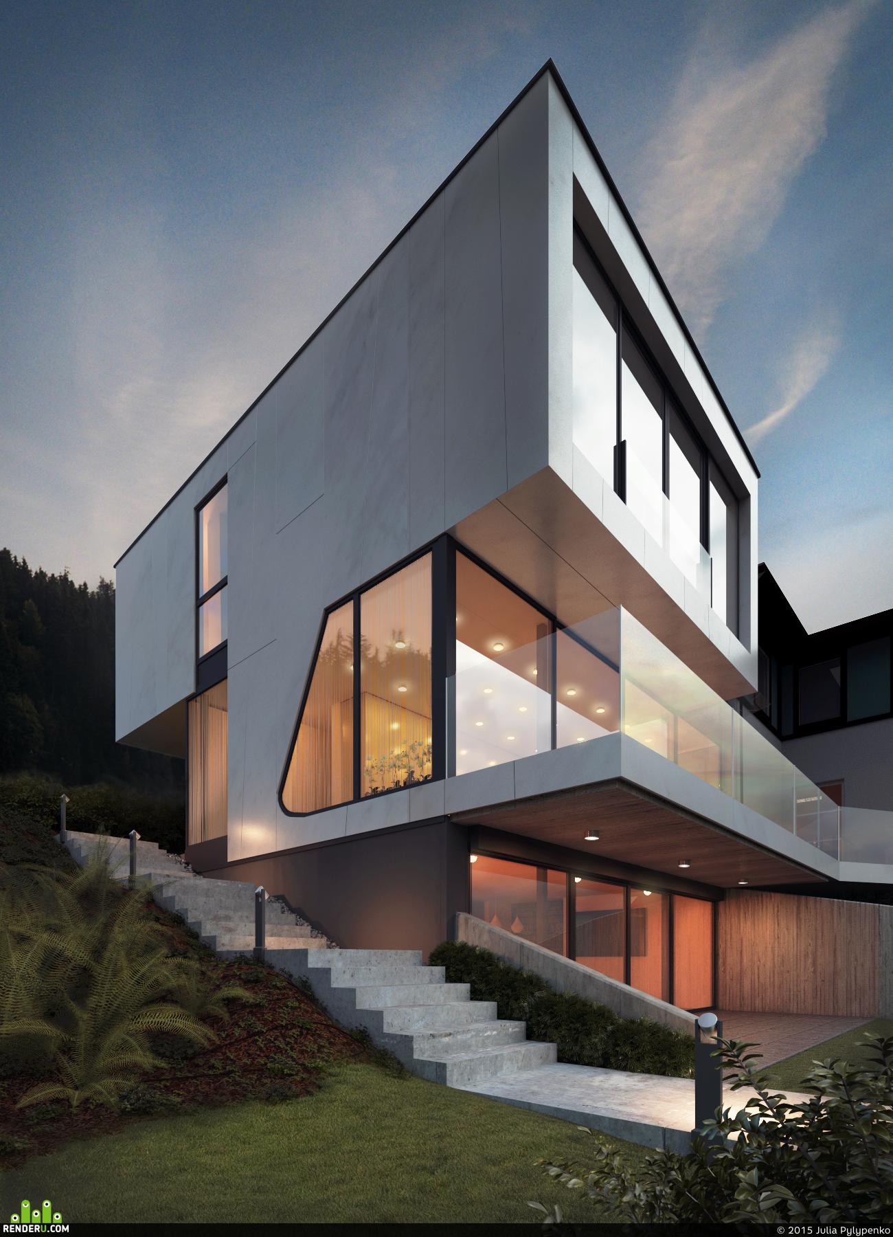 preview Дом у озера от студии Spado Architects