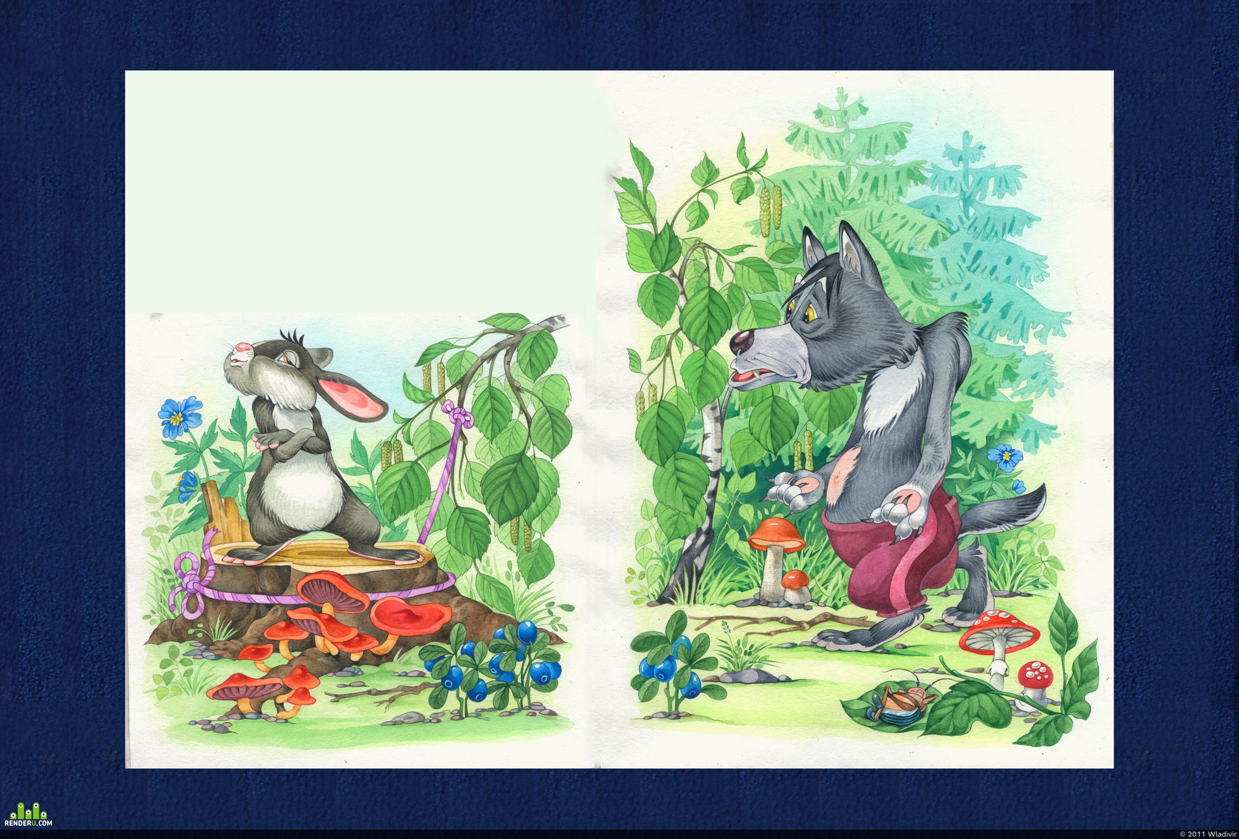 "preview Иллюстрация к сказке ""Смелый заяц"""