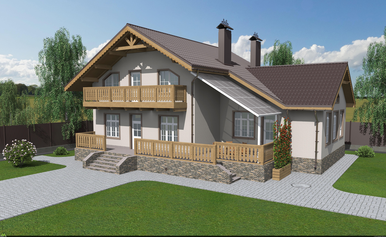preview Проект загородного дома