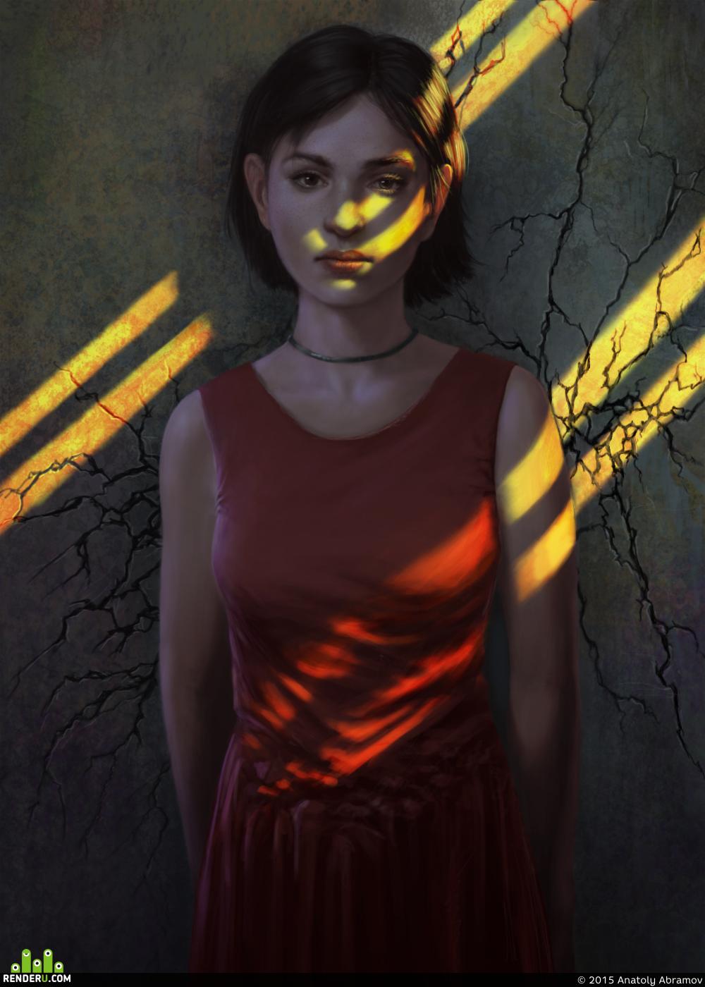 preview Девушка в закате
