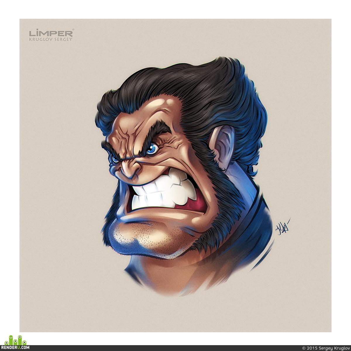 preview Cartoon Wolverine