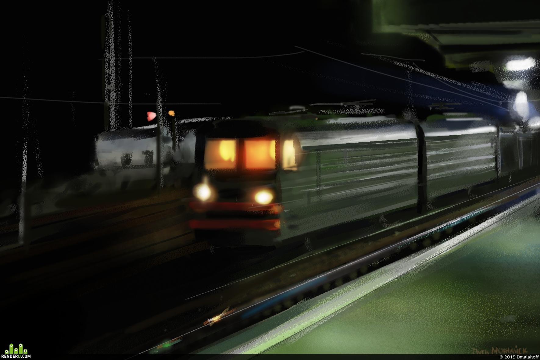 preview Товарный поезд (Можайск)
