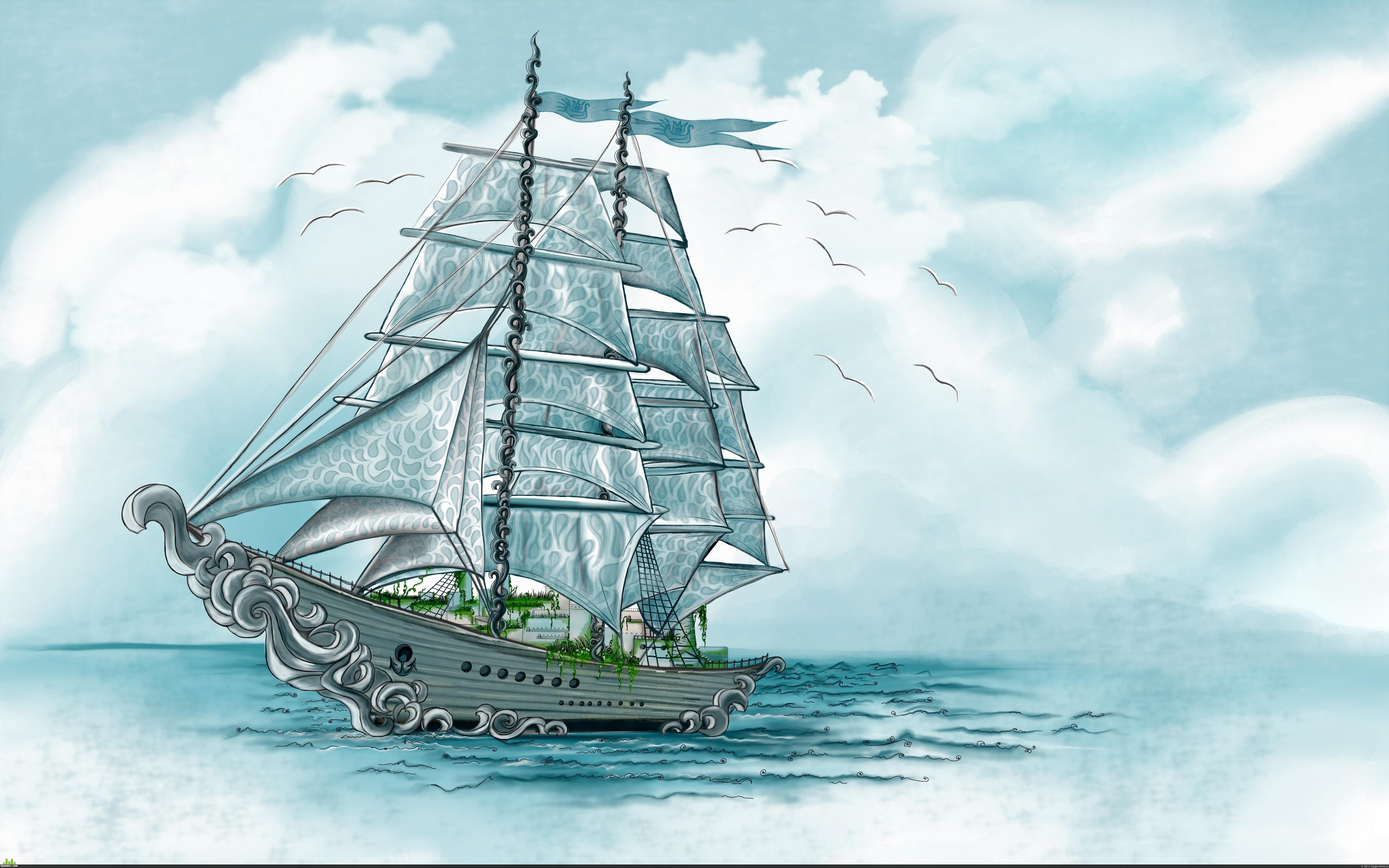 preview фантастический корабль