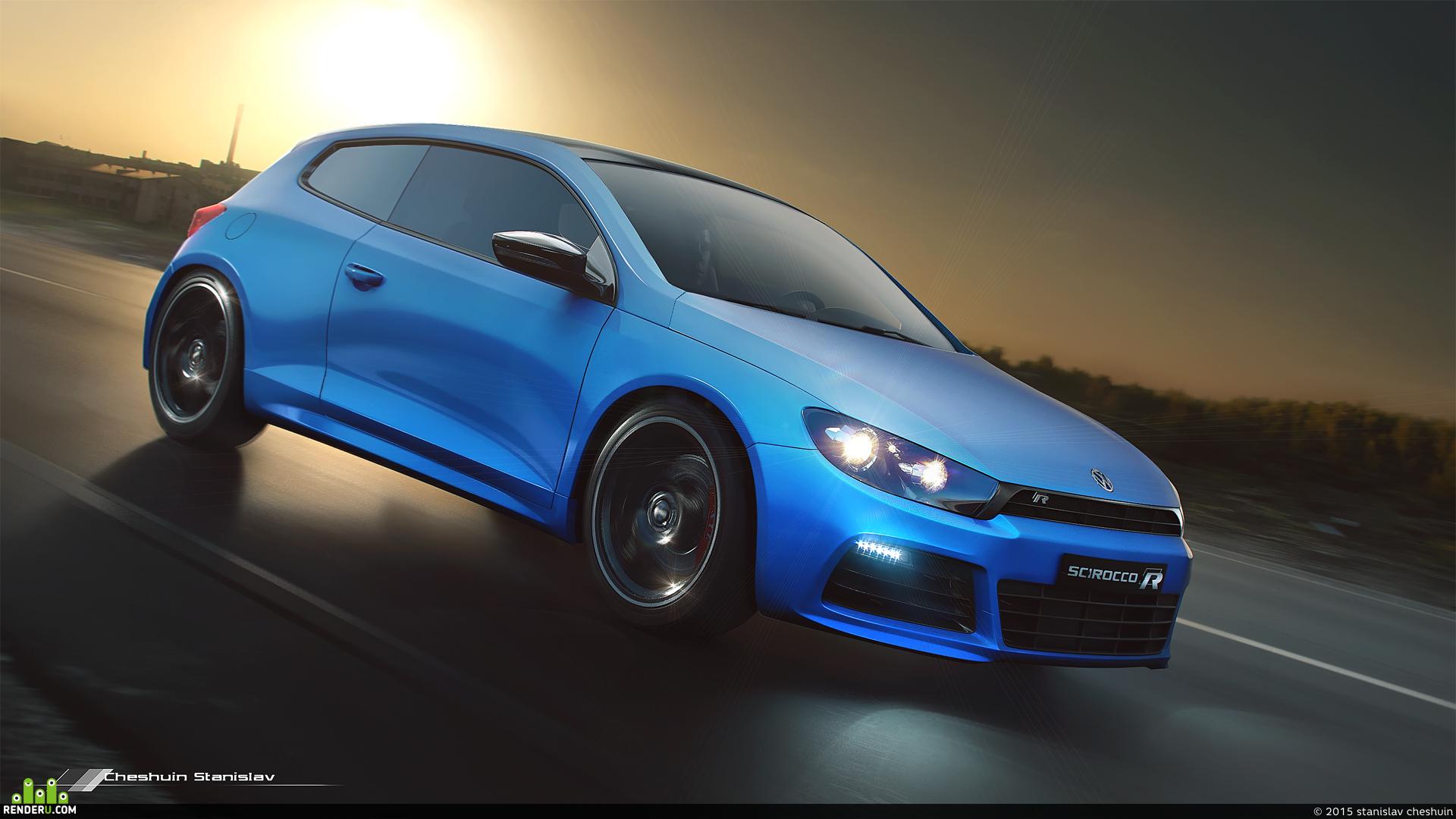 "preview ""Volkswagen Scirocco R"" 2010"