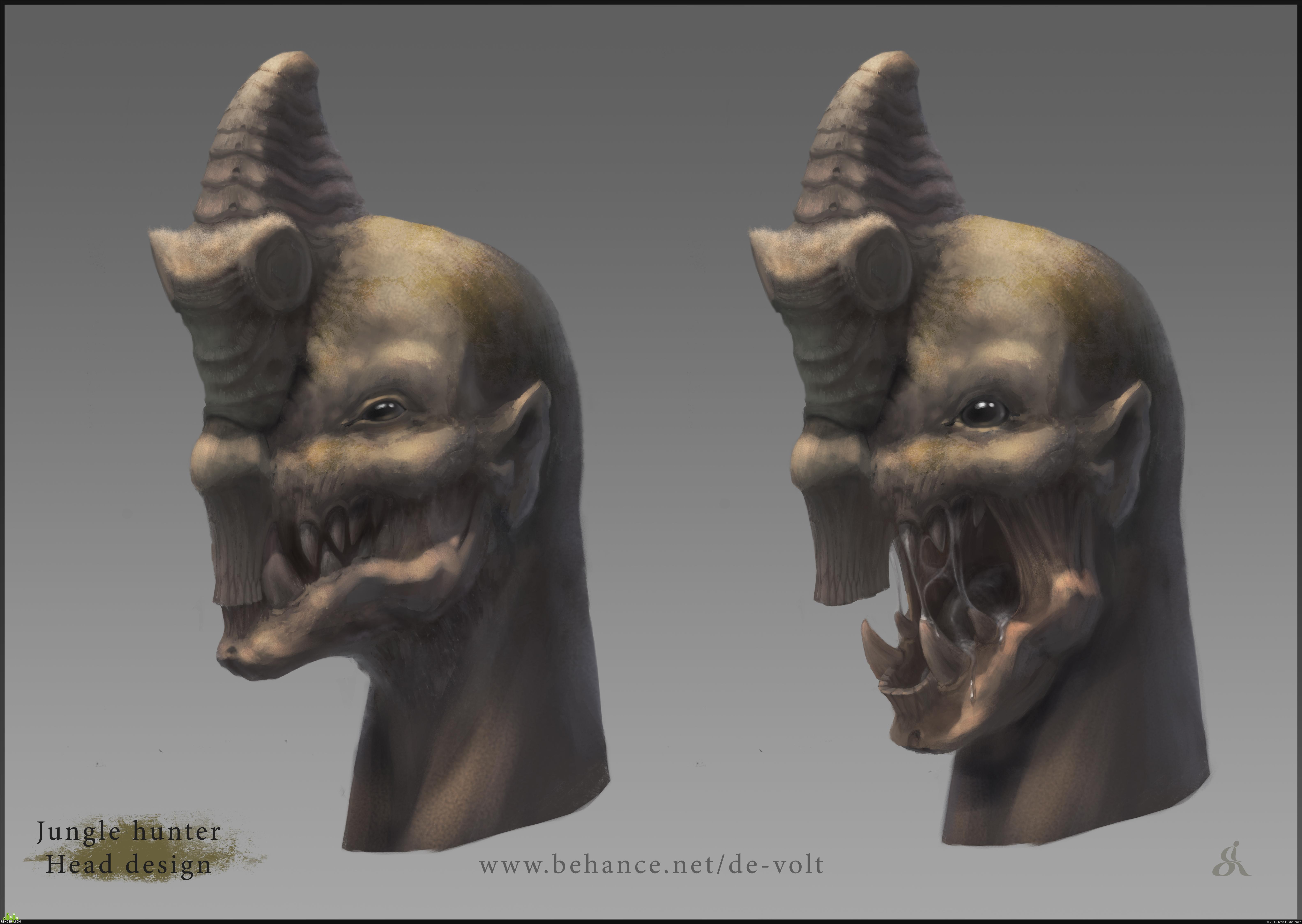 preview Дизайн головы охотника джунглей
