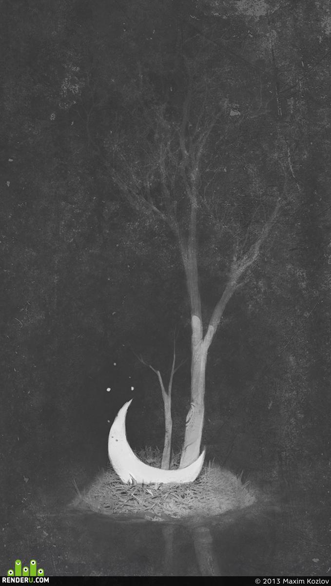 preview Луна глубоко во внутреннем Лесе