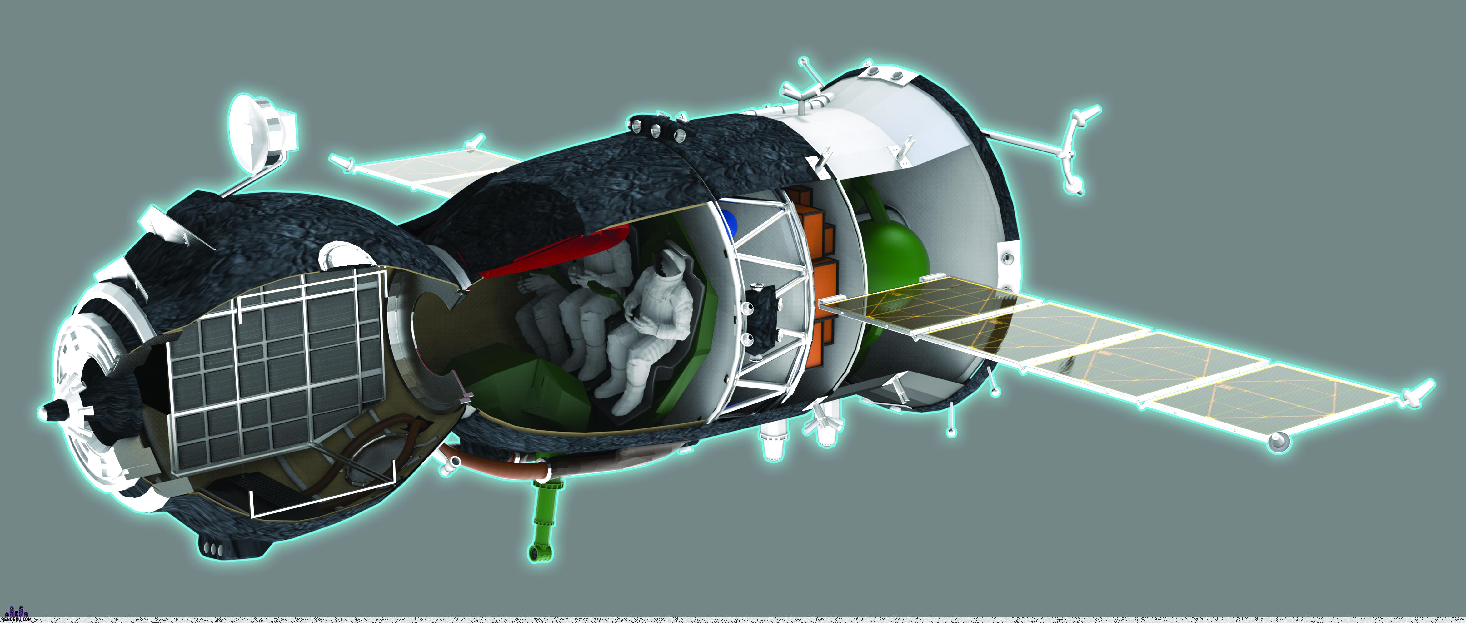 preview Модель Союз-ТМА в разрезе