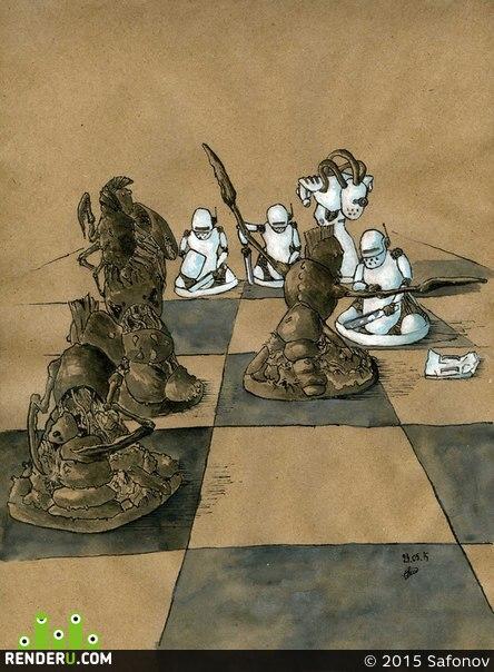 preview Чёрно-белое сражение