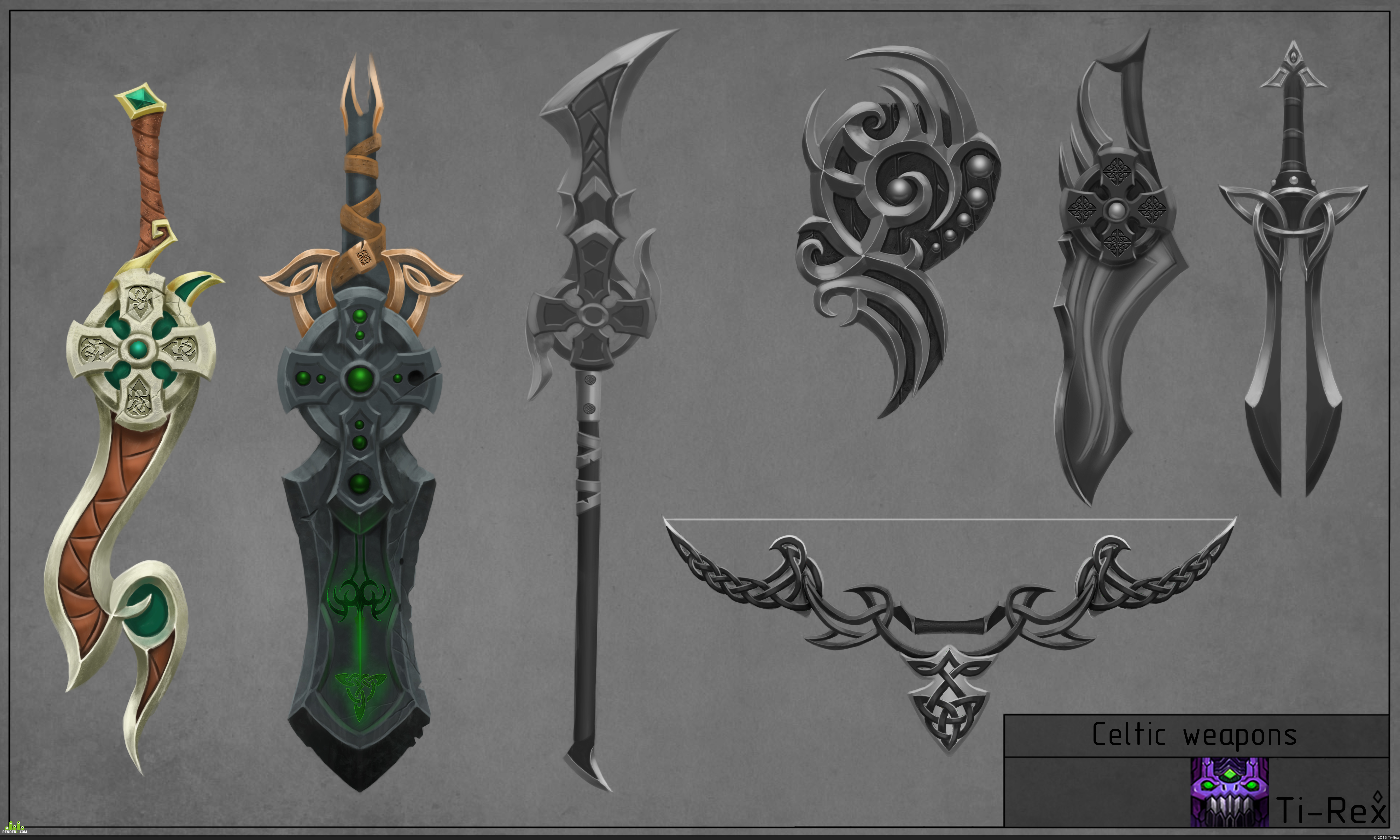 preview Celtic weapons