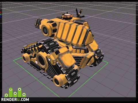 preview Анимация гусениц танка