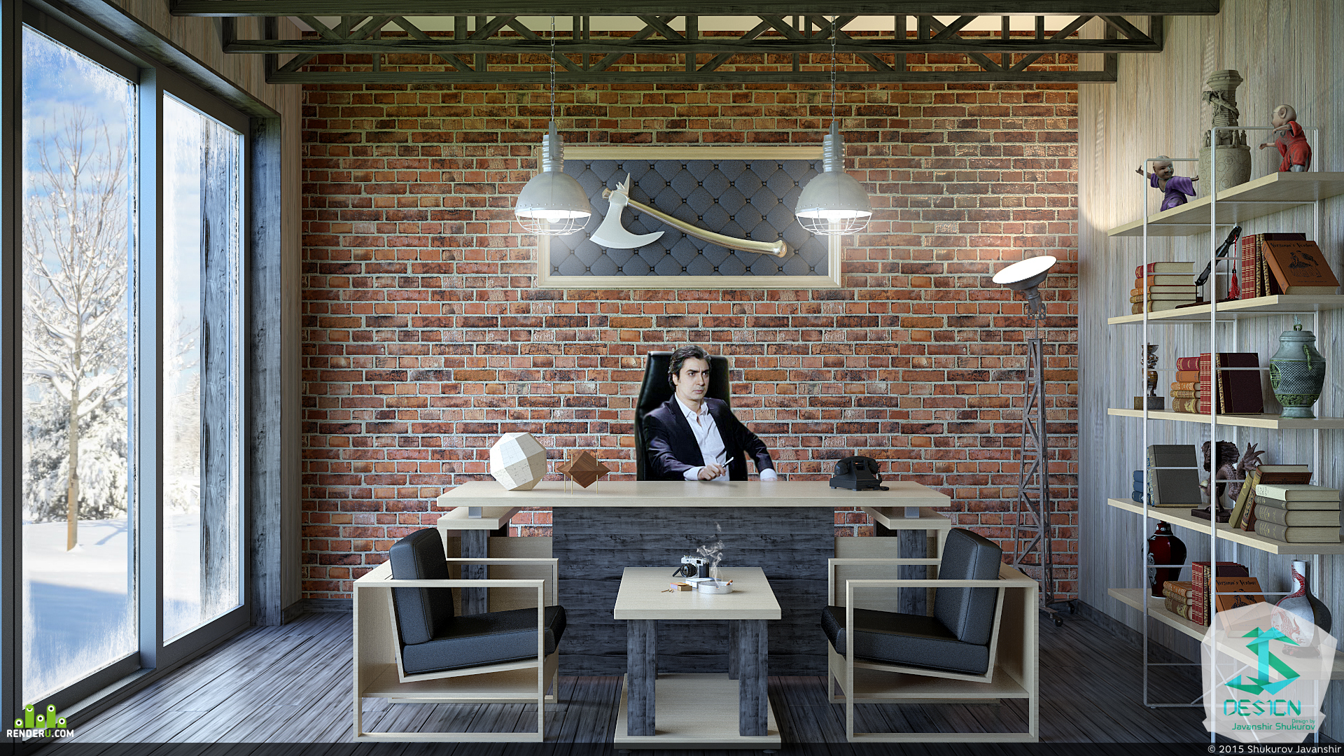 preview Loft Style - Office Design