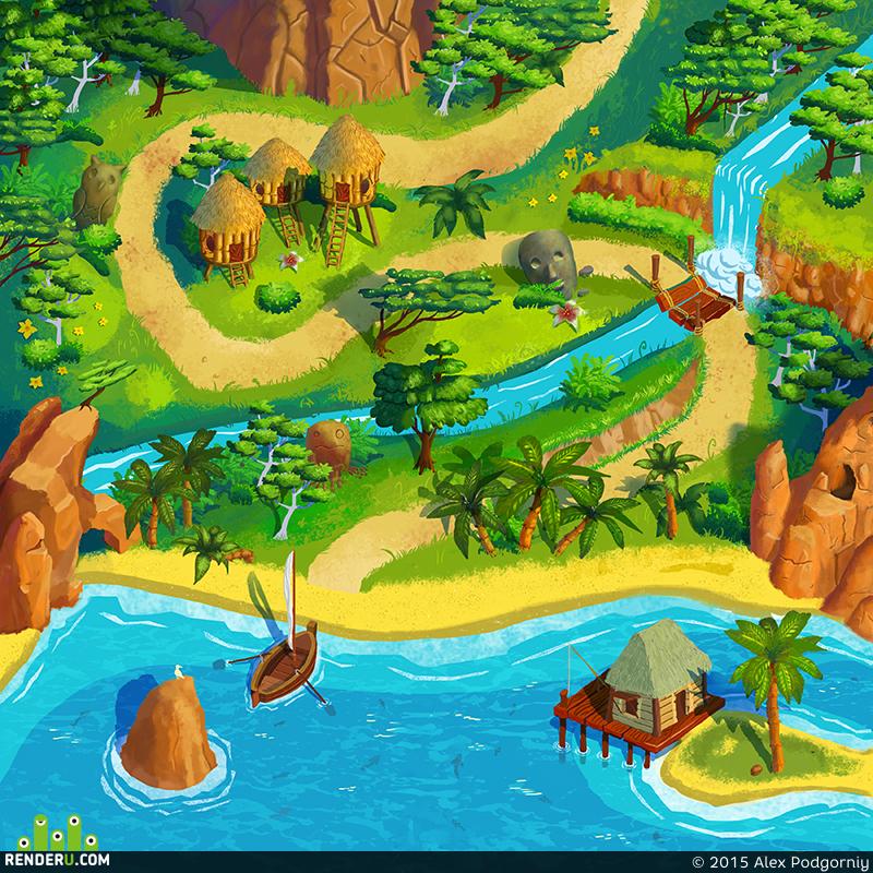 preview Карта для игры. Джунгли