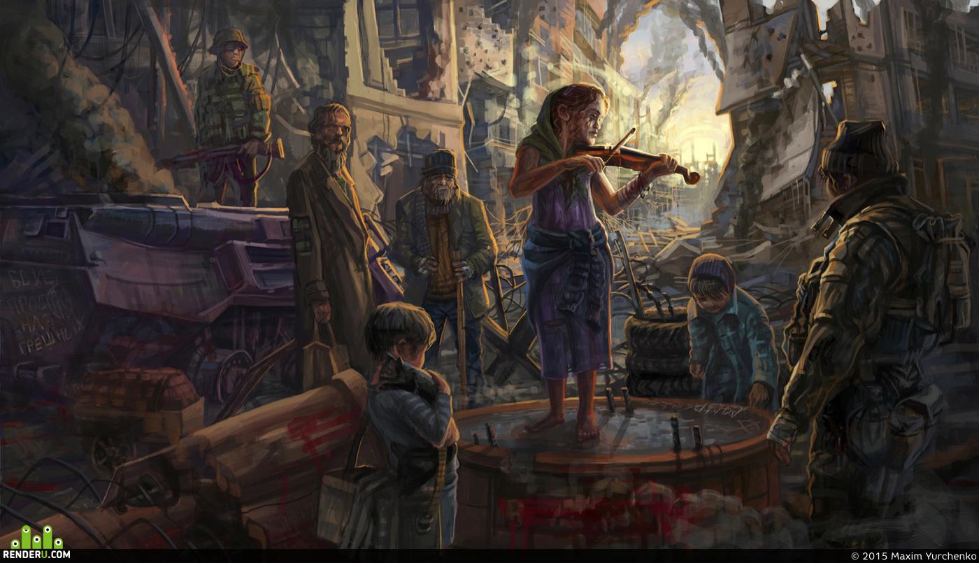 preview Девочка со скрипкой