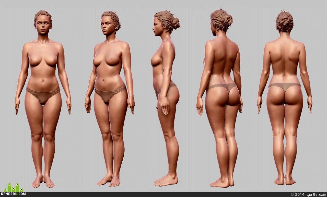 preview девушка ( анатомия)