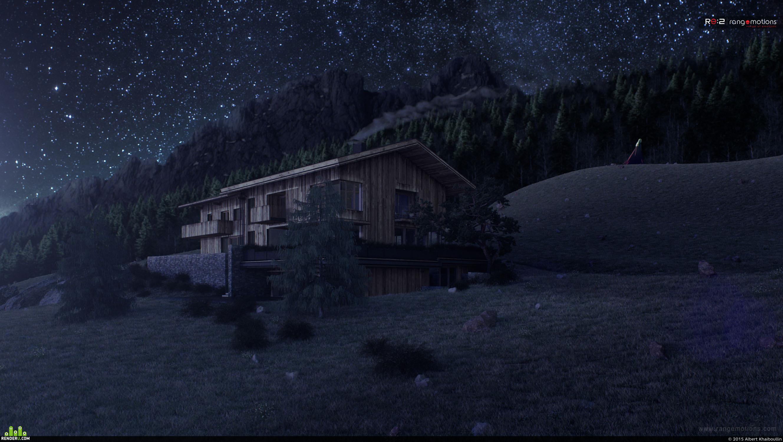 preview Дом Wiesenhof.Ночь.