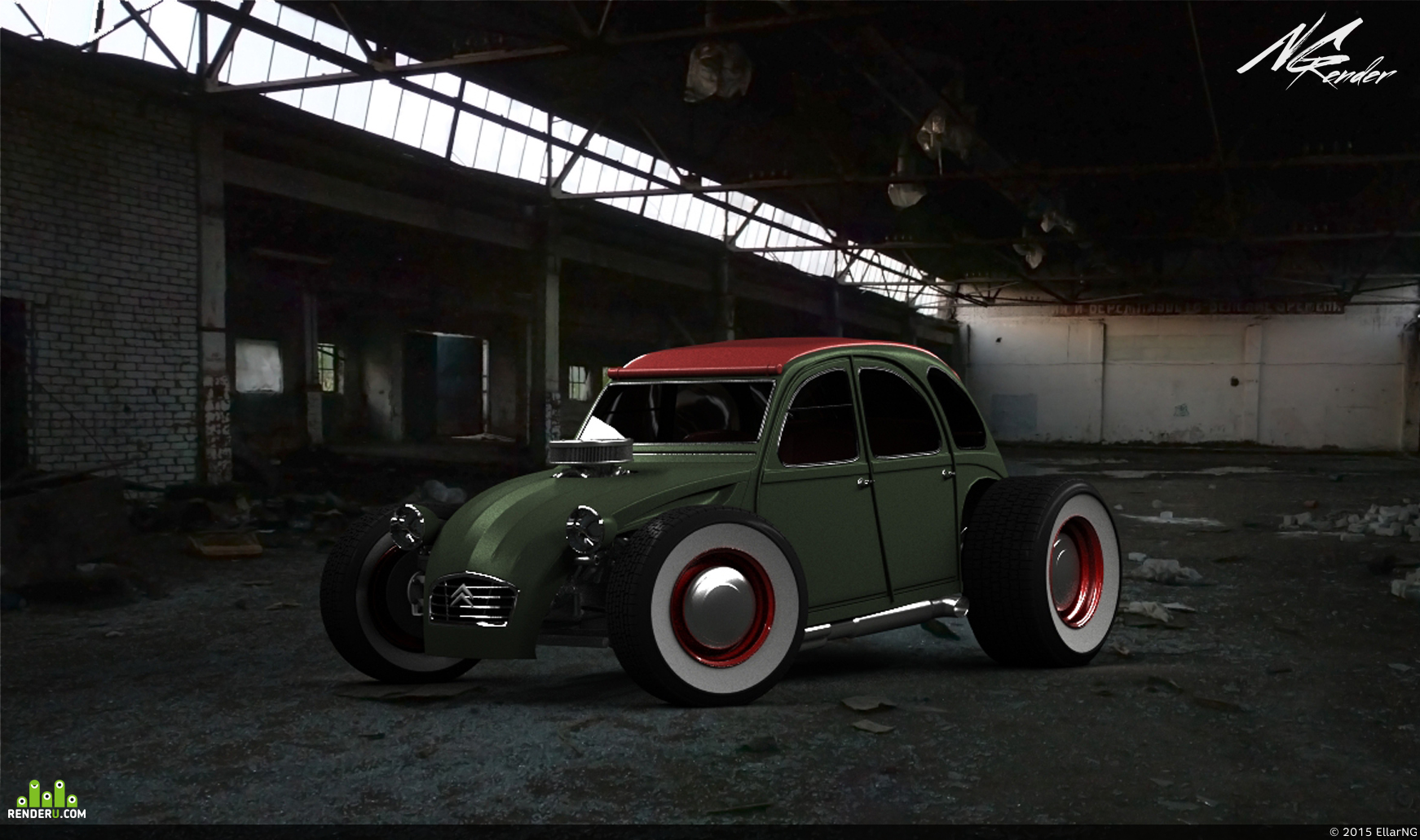 preview Citroen 2cv Custom Hotrod