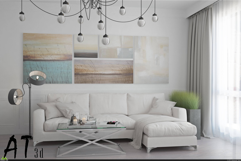 preview Дизайн и визуализация гостиной