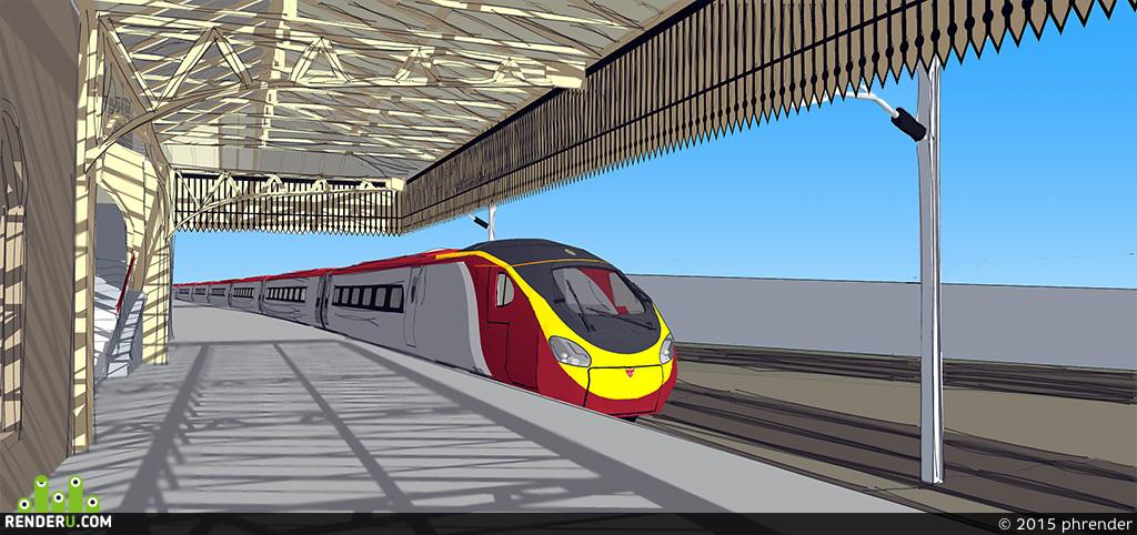 preview Поезд на станции