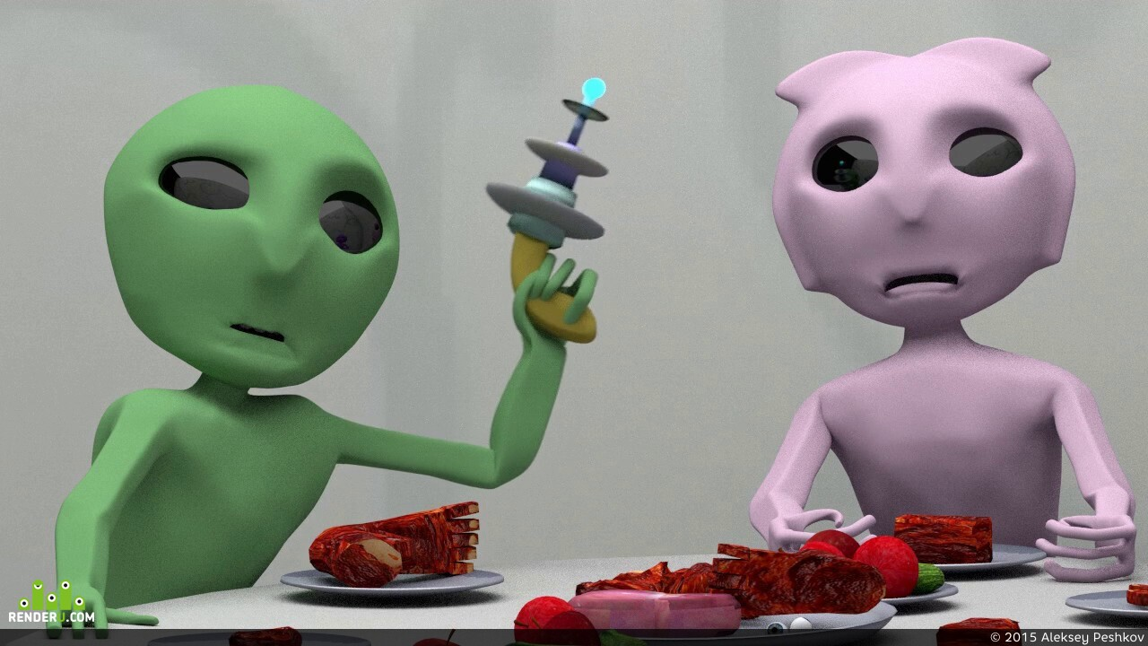 preview Инопланетяне едят человека! Жесть!
