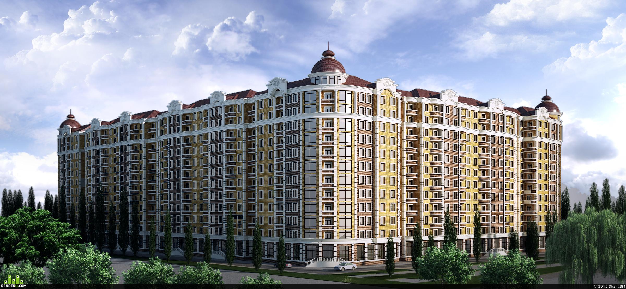 preview Многоэтажный жилой дом