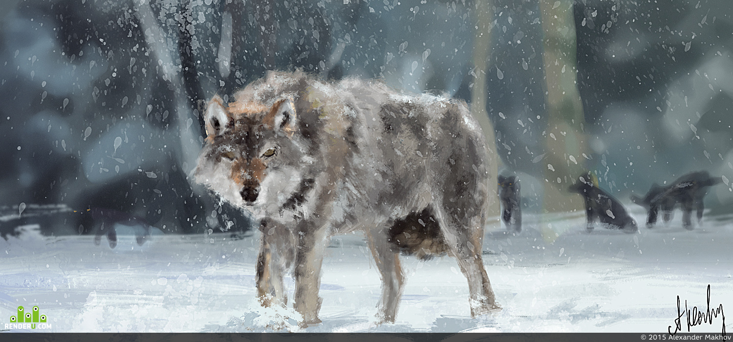 preview Winter wolf