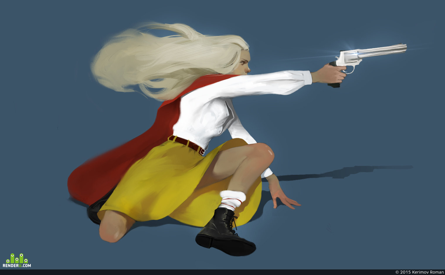 preview girl with gun