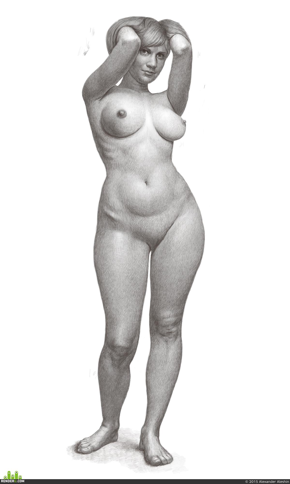 эротический рисунок женской фигуры - 2