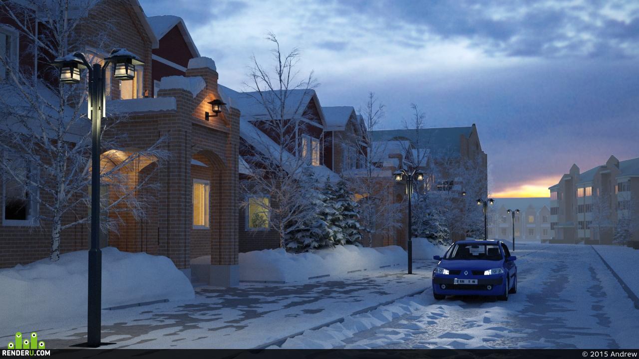 preview Зимняя сцена