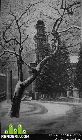 preview Ужгородский Кафедральный собор (рисунок)