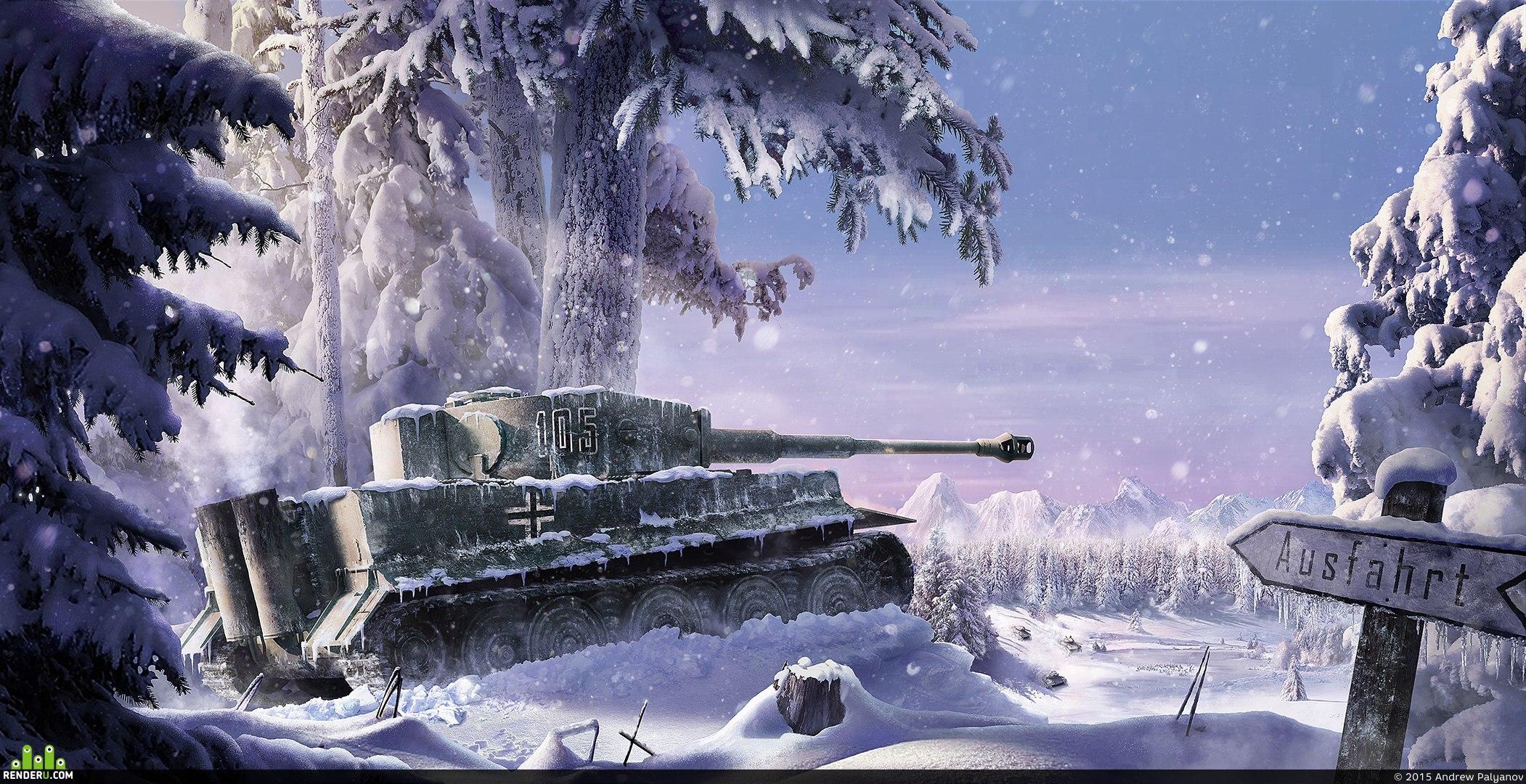 preview Зимний танк