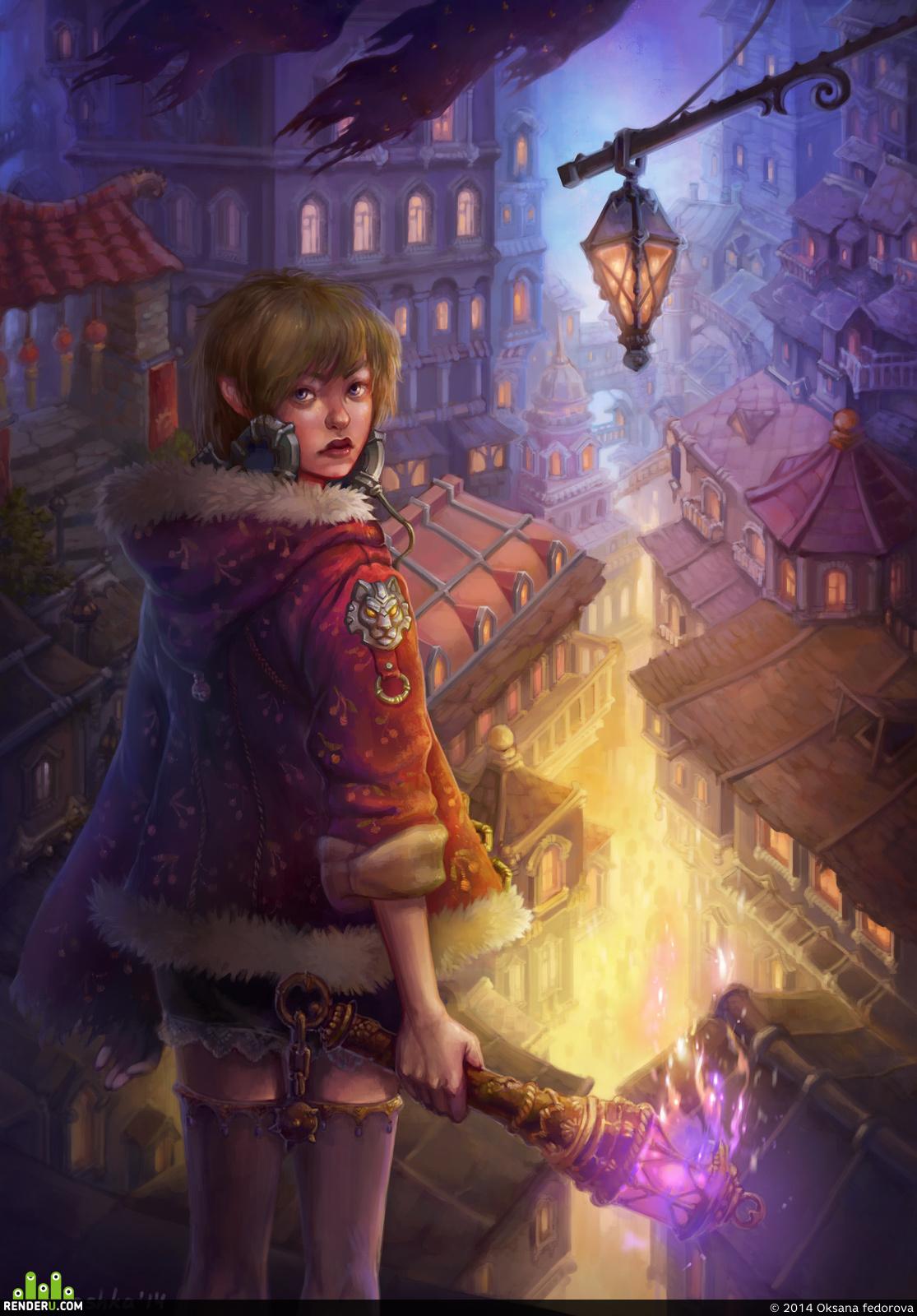 preview Девочка с факелом