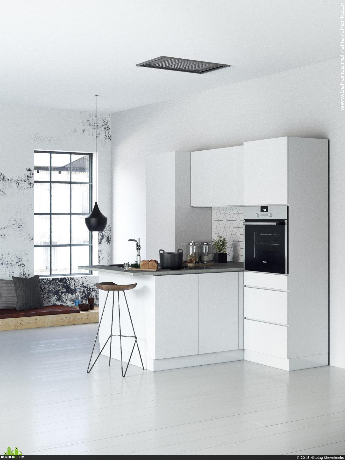 preview Белая кухня